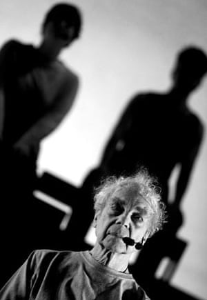 Merce Cunningham in An Alphabet by John Cage at the Edinburgh international festival in 2001