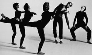 Merce Cunningham, second from right, performs Quartet with the Merce Cunningham Dance Company