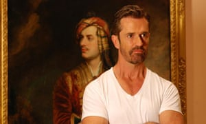 Rupert Everett by painting of Lord Byron