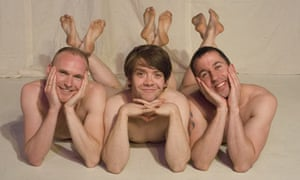 David Lucas, Steven Butler and Nathan Taylor in Naked Boys Singing