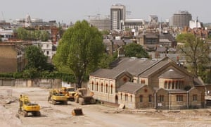 The site of the former Chelsea Barracks in London