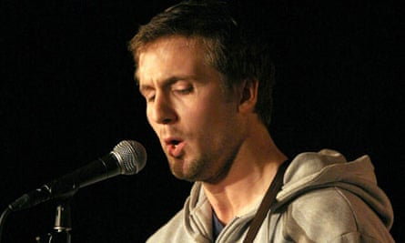 Tom Basden during his comedy standup act