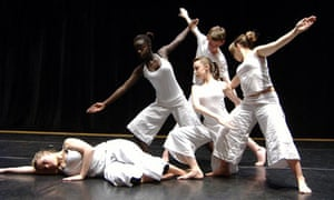 Dance students at the Brit school in Croydon