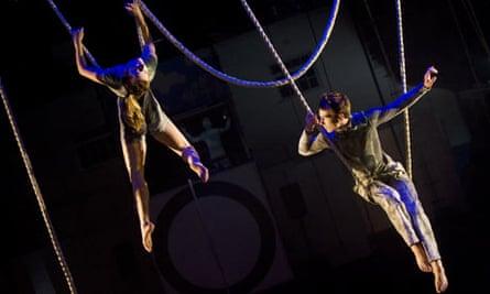 Fidget Feet Aerial Dance Theatre perform Raw at the Edinburgh festival