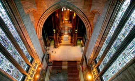 Liverpool Church of England Cathedral, which received funding from English Heritage