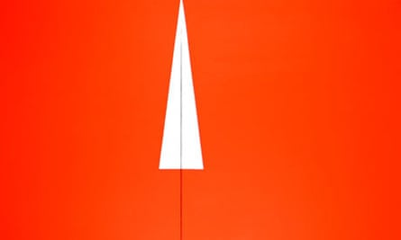 Carmen Herrera, Red with White Triangle (1961), at the Ikon Gallery
