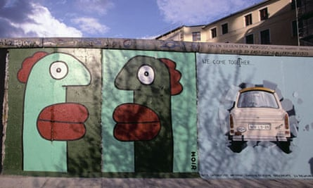 Berlin Wall mural by Noir at Potsdamer Platz