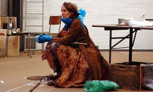 Fiona Shaw in rehearsals for Mother Courage at the National Theatre