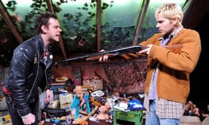 Danny Dyer (Sid Vicious) and Shaun Evans (Kurt Cobain) in Kurt and Sid at Trafalgar Studios