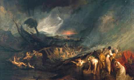JMW Turner's The Deluge (1805) at Tate Britain's Turner and the Masters exhibition