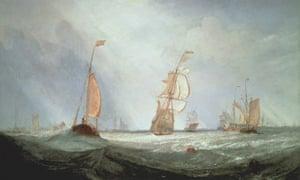 Helvoetsluys (1832) by JMW Turner, at Tate Britain