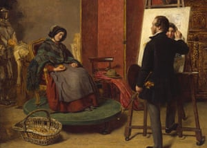 Compton Verney - studios: The Sleeping Model by William Powell Frith