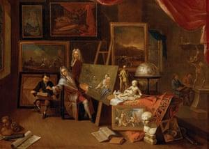Compton Verney - studios: The Artist's Studio (c1716) by Peter Tillemans