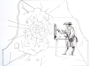 Compton Verney - studios: Studiolo (Painter Man) by Mark Fernington (2009)