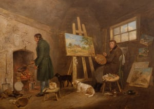 Compton Verney - studios: The Artist in His Studio and His Man Gibbs (c1802) by George Morland