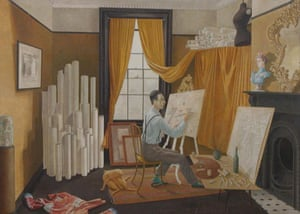 Compton Verney - studios: Edward Bawden Working in His Studio by Eric Ravilious (1929)