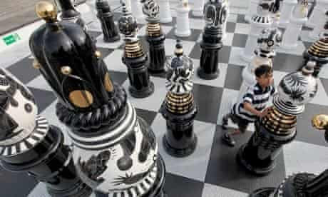 A Giant Chess Set Is Unveiled On Trafalgar Square