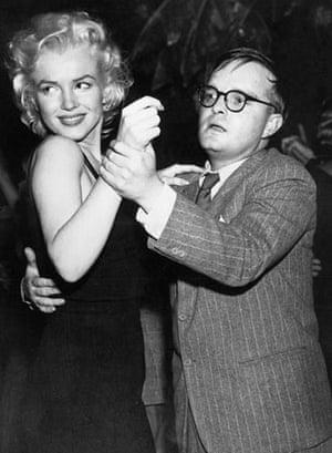 Truman Capote and Marilyn Monroe