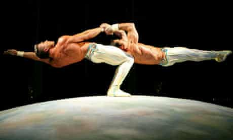 Acrobats from Cirque du Soleil perform during the 2007 CineVegas film festival awards