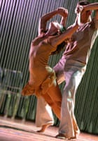 A scene from Rain by Rosas at Sadler's Wells in 2002