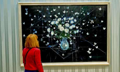 Damien Hirst's White Roses and Butterflies (2008)