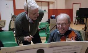 The Cobweb Orchestra at a rehearsal