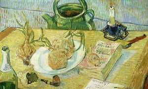 Van Gogh's Still Life Around a Plate of Onions (early January 1889)