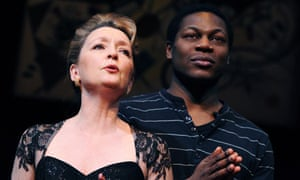 Lesley Manville and Obi Abili in Six Degrees of Separation at the Old Vic
