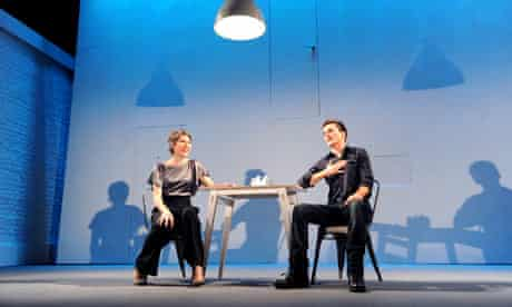 Tamsin Greig and Rupert Friend in The Little Dog Laughed
