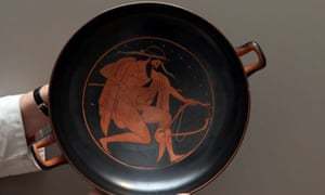 An Attic kylix, c480BC, from the Fitzwilliam Museum
