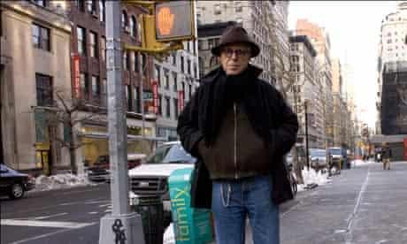 The American playwright John Guare in his New York Neighborhood.