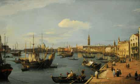 Canaletto at the National Gallery - The Riva degli Schiavoni, Looking West
