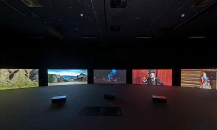 Julian Rosefeldt's five-screen installation American Night