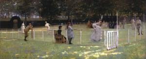 Glasgow boys, lavery, the tennis party, 1885