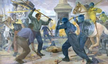 John Bartlett's History Painting (1993-4) sanitised the brutal reality of the poll tax riots.