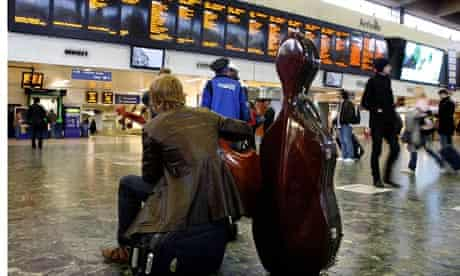 Train Travellers at Euston Station