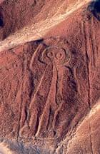 Aerial View of Nazca Astronaut Geoglyph