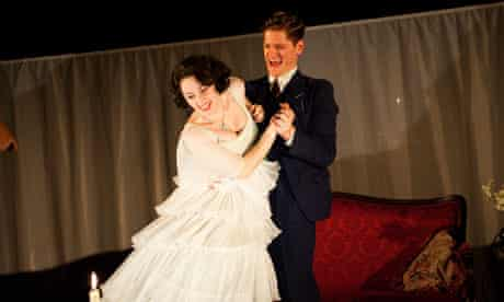 Sinead Matthews and Kyle Soller in The Glass Menagerie, currently showing at the Young Vic.