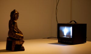 Buddha, 1989, by Nam June Paik