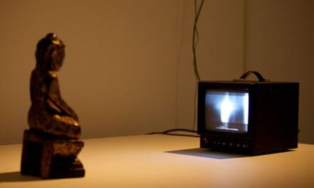 Buddha, 1989, by Nam June Paik