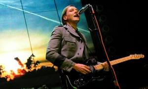 Taking the mic ... Win Butler of Arcade Fire targets a self-indulgent era in his lyrics.