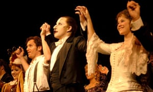 The curtain call after the 20th birthday performance of The Phantom of the Opera