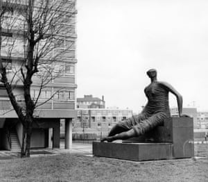 A statue by Henry Moore in Stepney, east London