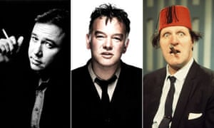 Comedians Bill Hicks, Stewart Lee and Tommy Cooper