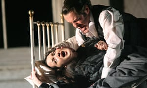 Anna Christy and Mark Stone in the English National Opera's Lucia di Lammermoor