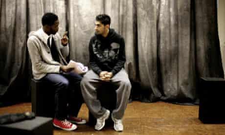 Tarrell Alvin McCraney (left) and actor Dharmesh Patel
