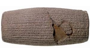 Cyrus Cylinder 9c539-530BC) from Babylon, Iraq