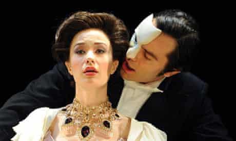 Sierra Boggess and Ramin Karimloo in Love Never Dies at the Adelphi Theatre, London