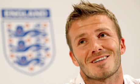 England footballer David Beckham