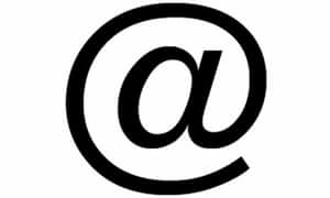 Moma has added the 'at' @ symbol to its design collection